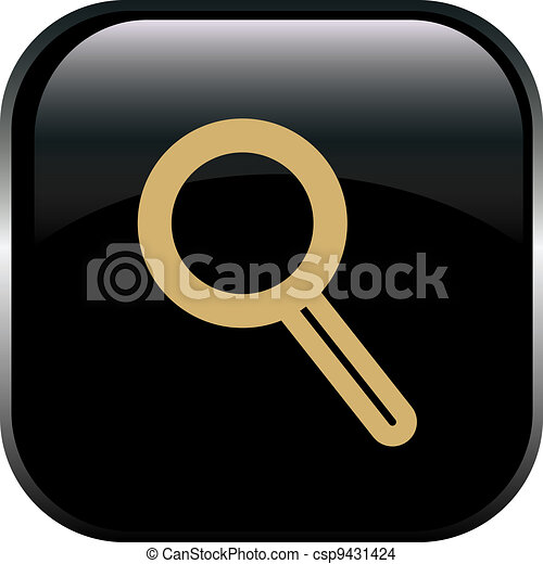 magnifying glass icon - csp9431424