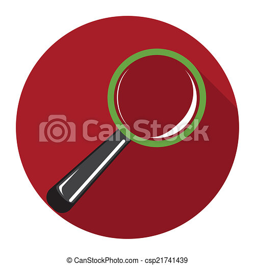 magnifying glass icon - csp21741439