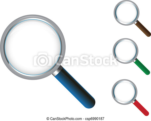 magnifying glass icon - csp6990187