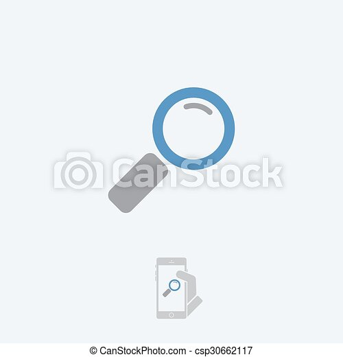 Magnifying glass icon - csp30662117