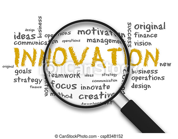 Magnifying Glass - Innovation - csp8348152