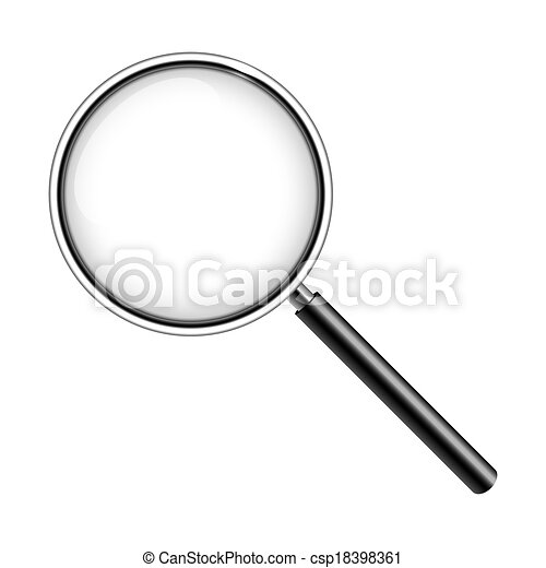 Magnifying glass isolated on white - csp18398361