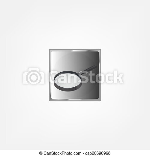 Magnifying glass isolated on white background - csp20690968