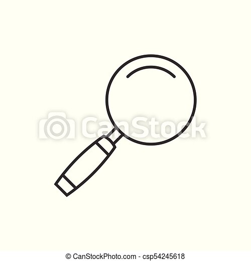 magnifying glass outline icon on white rh canstockphoto com Animated Magnifying Glass Clip Art Transparent Magnifying Glass Clip Art