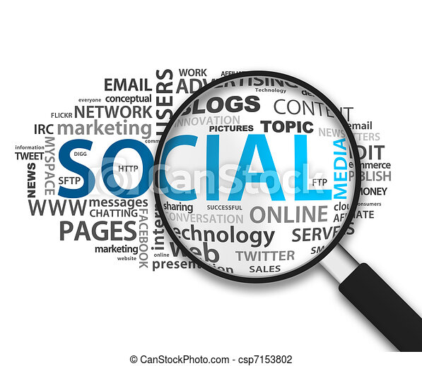 Magnifying Glass - Social Network - csp7153802