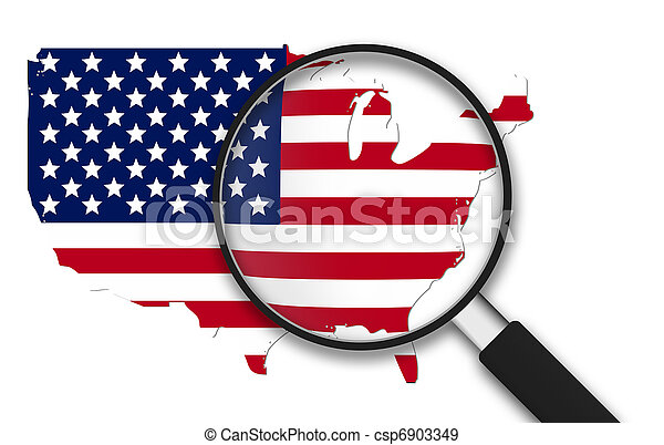 Magnifying Glass - USA - csp6903349