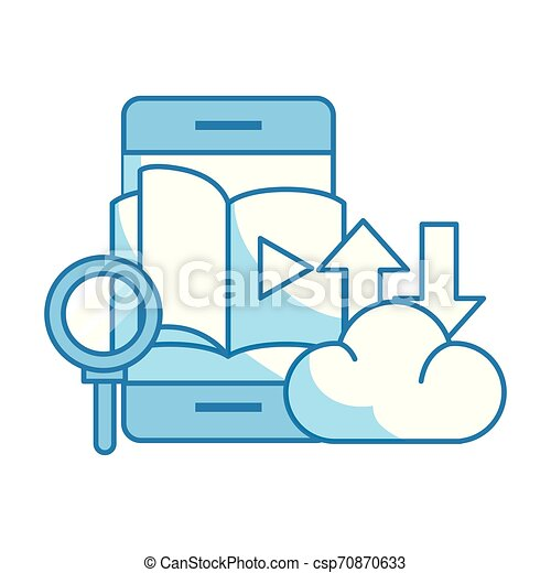 magnifying glass with cloud - csp70870633