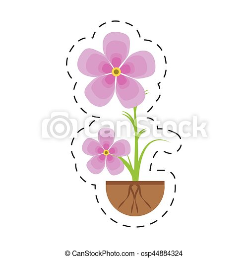 magnolia flower flora growing - csp44884324