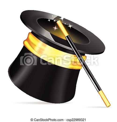 mago, sombrero - csp22989321