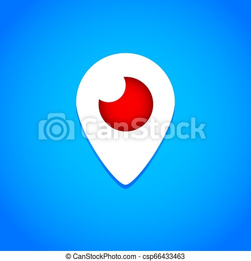 Mahachkala, Russia - October 2, 2016. Periscope app for video chat logo vector illustration on blue background - csp66433463