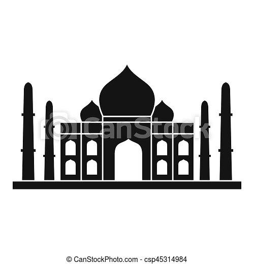 El icono Taj Mahal, estilo simple - csp45314984
