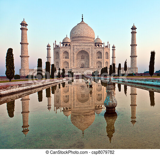 mahal, india, taj - csp8079782