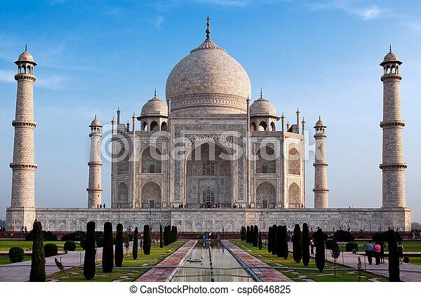 mahal, indien, uttar pradesh, taj, agra - csp6646825