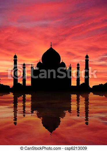 Taj Mahal Sunset - csp6213009