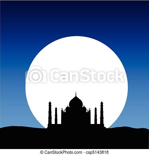 Taj Mahal en la luna - csp5143818