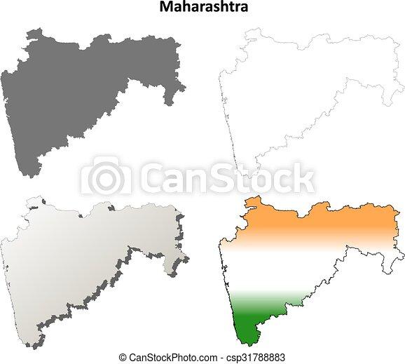 Maharashtra blank detailed outline map set maharashtra vector maharashtra blank detailed outline map set csp31788883 gumiabroncs Image collections