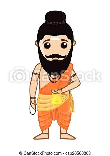 maharishi vishvamitra indian saint maharishi vishvamitra rh canstockphoto com santa clipart for facebook santa clipart