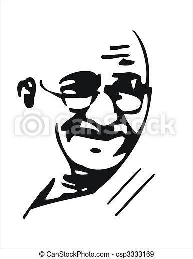 Mahatma ガンジー スタイル Che イメージ Guevarra 黒 Gandhi