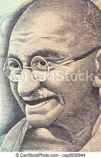 Mahatma Gandhi on Currency Note - csp2630944