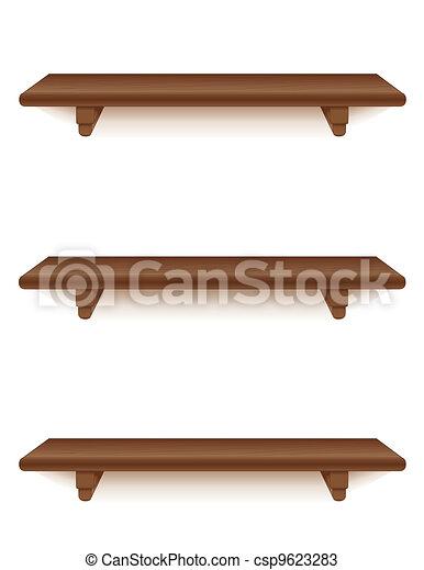 Mahogany Wood Shelves Three Narrow Mahogany Wood Wall