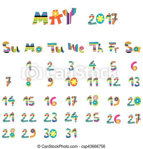 mai, 2017, calendrier - csp43666756