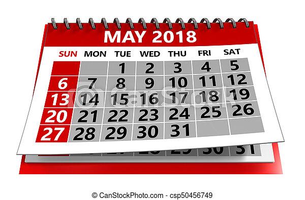 mai, 2018, calendrier - csp50456749