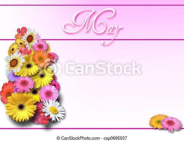 mai, rose, jour, backgroun - csp0695937
