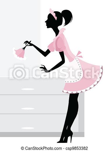 maid, poetsen - csp9853382