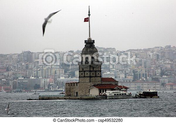 Maiden's Tower in Istanbul, Turkey - csp49532280