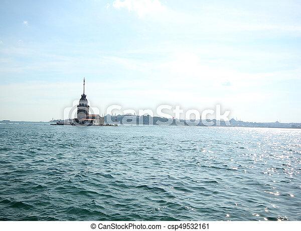 Maiden's Tower in Istanbul, Turkey - csp49532161