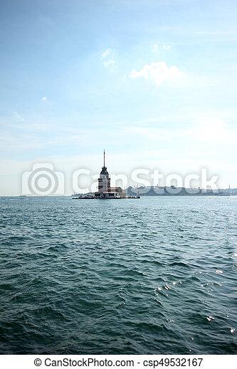Maiden's Tower in Istanbul, Turkey - csp49532167