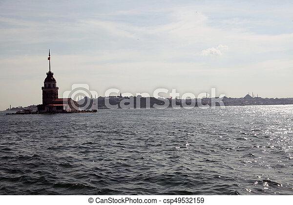 Maiden's Tower in Istanbul, Turkey - csp49532159