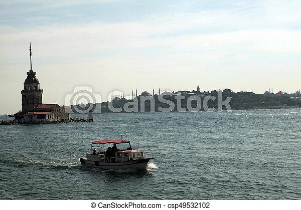 Maiden's Tower in Istanbul, Turkey - csp49532102