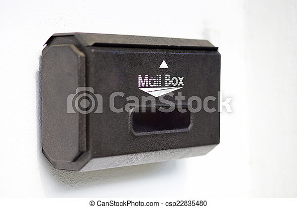mail box on white background - csp22835480