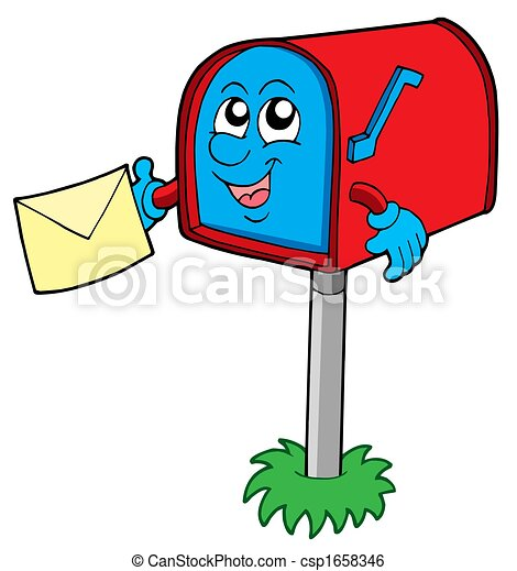 Mail box with letter - csp1658346