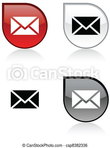 mail button. - csp8382336