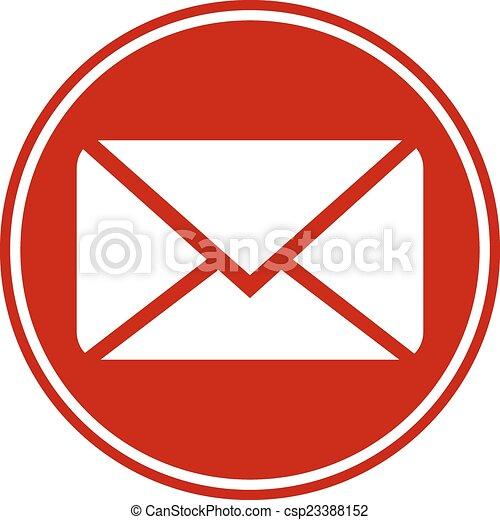 Mail button - csp23388152
