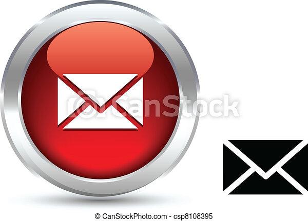 mail button. - csp8108395