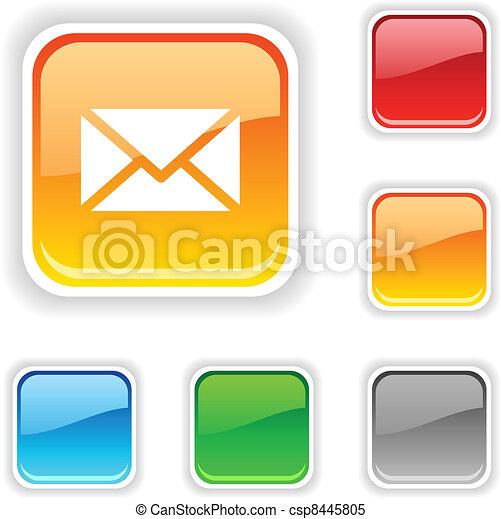 mail button. - csp8445805