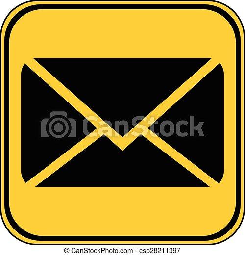 Mail button. - csp28211397