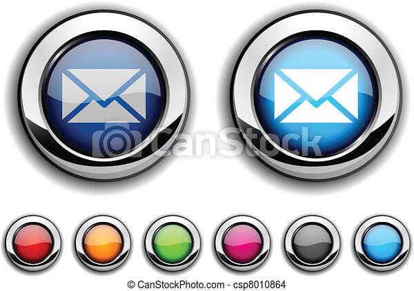 mail button. - csp8010864