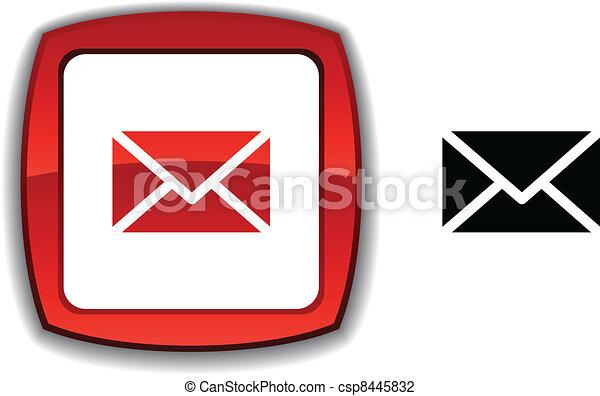 mail button. - csp8445832