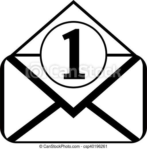 Mail button on white. - csp40196261