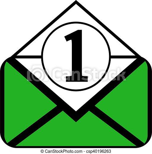 Mail button on white. - csp40196263