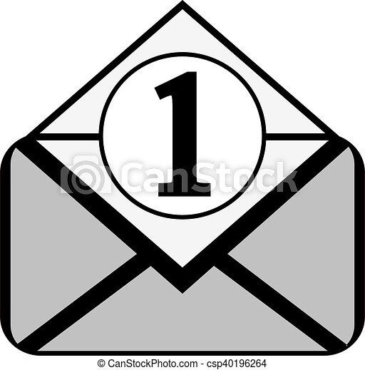 Mail button on white. - csp40196264