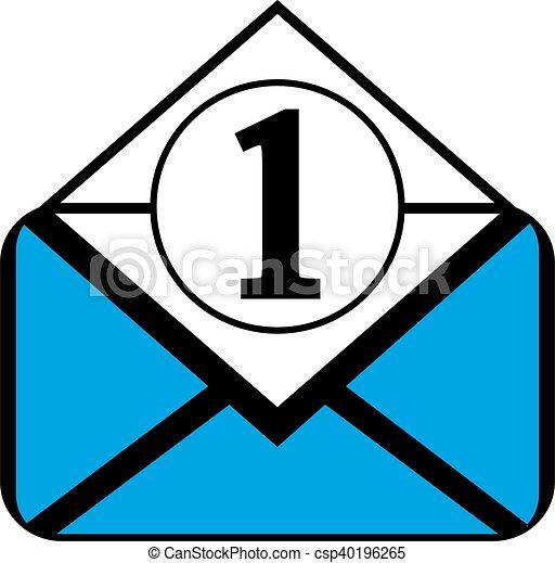 Mail button on white. - csp40196265