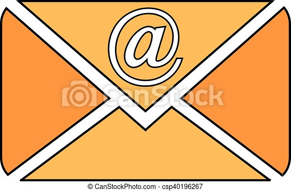 Mail button on white. - csp40196267