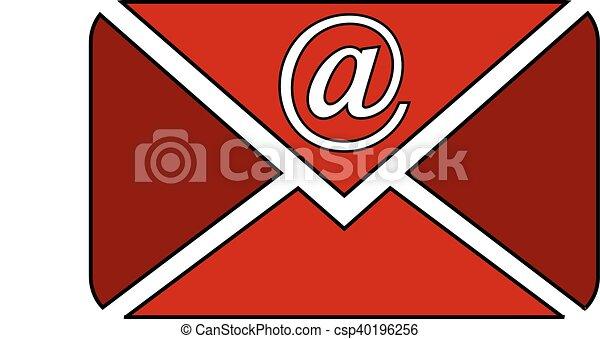 Mail button on white. - csp40196256