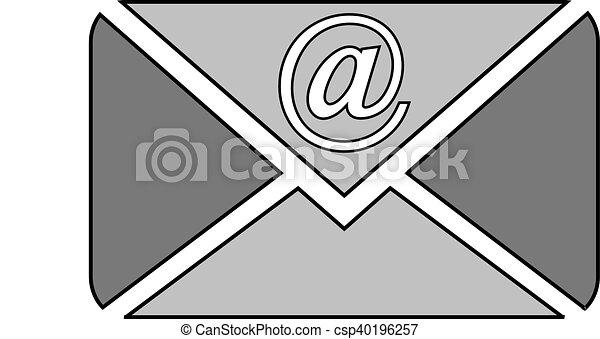 Mail button on white. - csp40196257