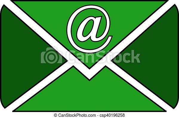 Mail button on white. - csp40196258